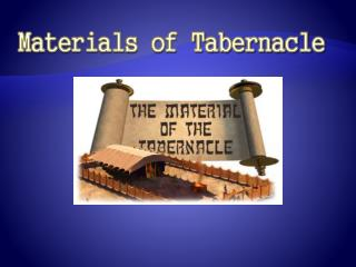 Materials of Tabernacle