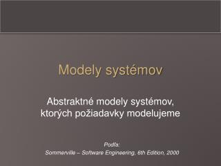 Modely syst�mov