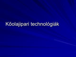 Koolajipari technol