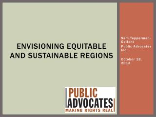 Envisioning Equitable and Sustainable Regions