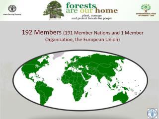192 Members  (191 Member Nations and 1 Member Organization, the European Union)