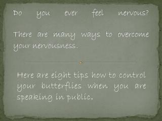 8 Tips for Speaking in Public