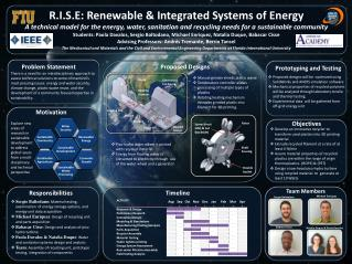 R.I.S.E: Renewable & Integrated Systems of Energy
