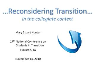 …Reconsidering Transition… in the collegiate context