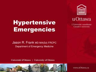 Hypertensive  Emergencies