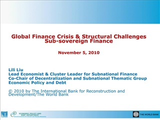 Global Finance Crisis  Structural Challenges Sub-sovereign ...