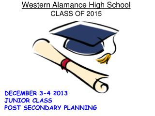 Western Alamance High School CLASS OF  2015