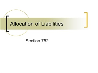 Allocation of Liabilities