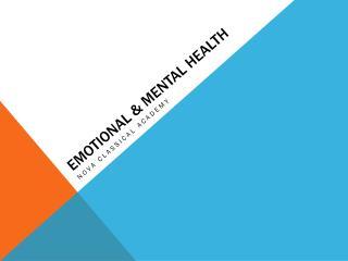 Emotional & Mental Health