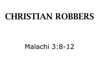 CHRISTIAN ROBBERS