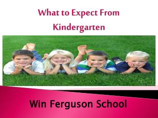 What to Expect From Kindergarten