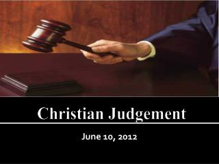 Christian  Judgement