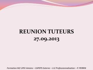 Formation M2 UPJV Amiens – CAPEPS Externe – U.E Professionnalisation – P. PERRIN