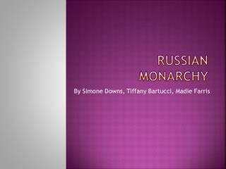 Russian monarchy
