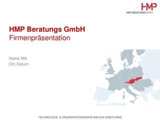 HMP Beratungs GmbH Firmenpräsentation