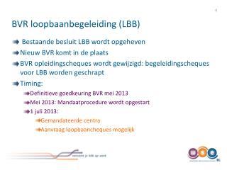 BVR loopbaanbegeleiding (LBB)
