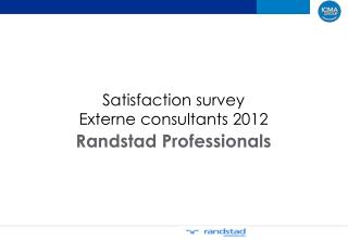Satisfaction survey  Externe  consultants 2012
