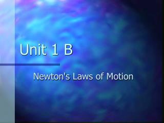 Unit 1 B