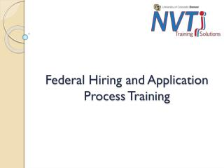 Federal Hiring  and Application Process Training