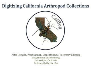 Digitizing California Arthropod Collections