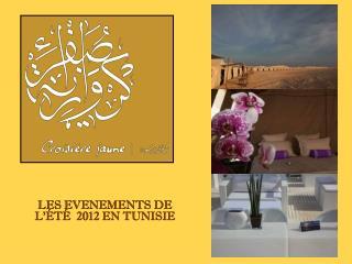 LES EVENEMENTS DE L'ÉTÉ  2012 EN TUNISIE