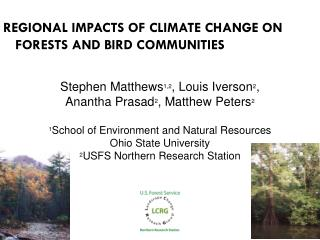 Regional Impacts of Climate Change on Forests and bird communities