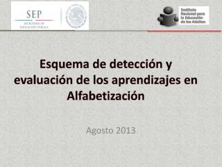 Esquema de detección y evaluación de los aprendizajes en Alfabetización