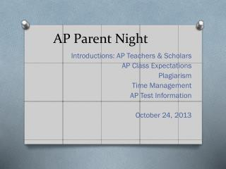 AP Parent Night