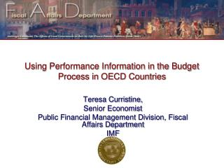 Using Performance Information in the Budget Process in OECD Countries