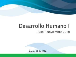 Desarrollo Humano I