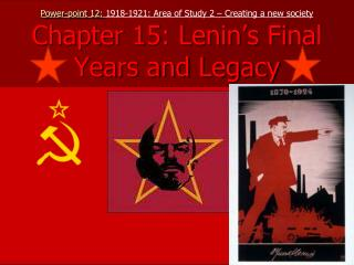 Introduction – Lenin's final years 1922 to 1924