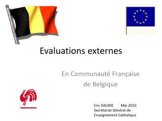 Evaluations externes