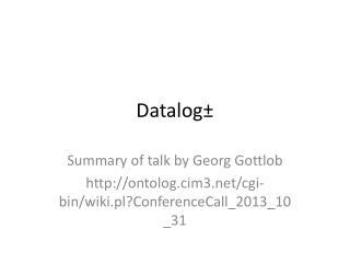 Datalog �