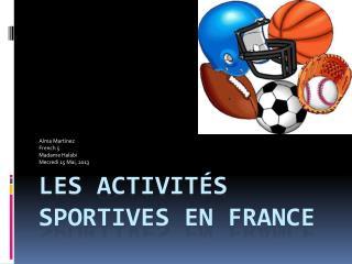 Les  Activités Sportives  En France
