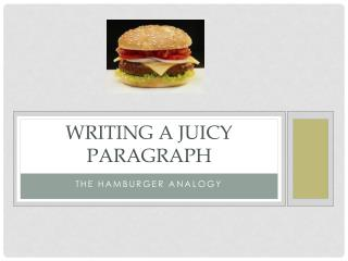 Writing a Juicy Paragraph