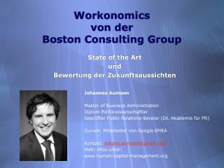 Workonomics von der Boston Consulting Group
