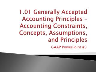 GAAP PowerPoint  #3