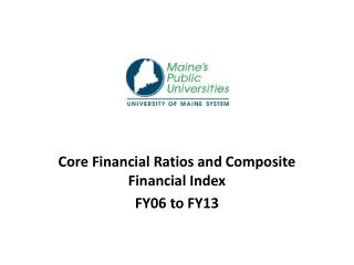 Core Financial Ratios and Composite Financial Index FY06 to  FY13