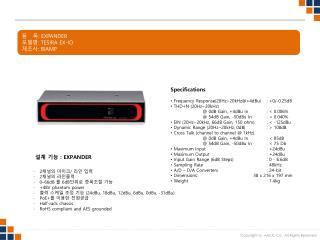 품   목 :  EXPANDER 모델명 :  TESIRA EX-IO 제조사 :  BIAMP
