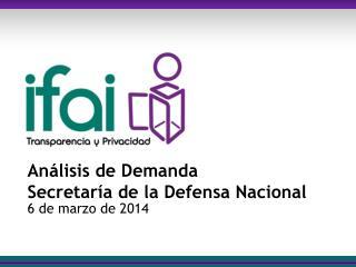 Análisis de Demanda Secretaría de la Defensa Nacional