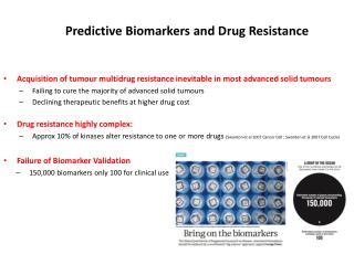 Predictive Biomarkers and Drug Resistance