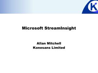 Microsoft StreamInsight