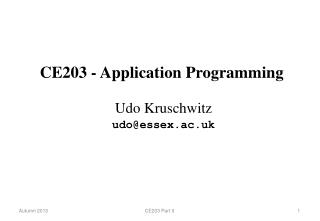 CE203 - Application Programming