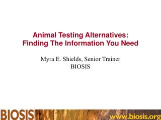 Animal Testing Alternatives: Finding The Information You Need