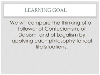 a comparison on the ideals of confucianism taoism and the legalist Get an answer for 'what is the difference between confucianism and daoism confucianism and taoism are to confucianism 1 educator answer compare and.