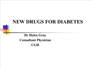 NEW DRUGS FOR DIABETES
