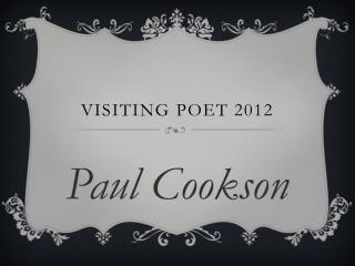 Visiting Poet 2012