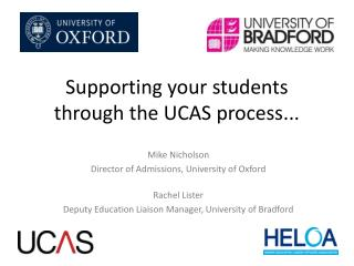 Supporting your students through the UCAS process...