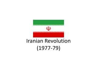 Iranian Revolution (1977-79)