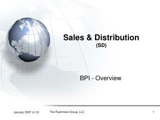Sales  Distribution SD